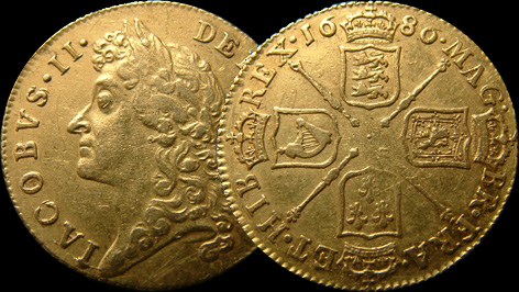 1686 James II Gold Guinea